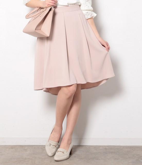 ロペピクニック | ウエストゴムイレギュラーヘムフレアースカート | ピンク
