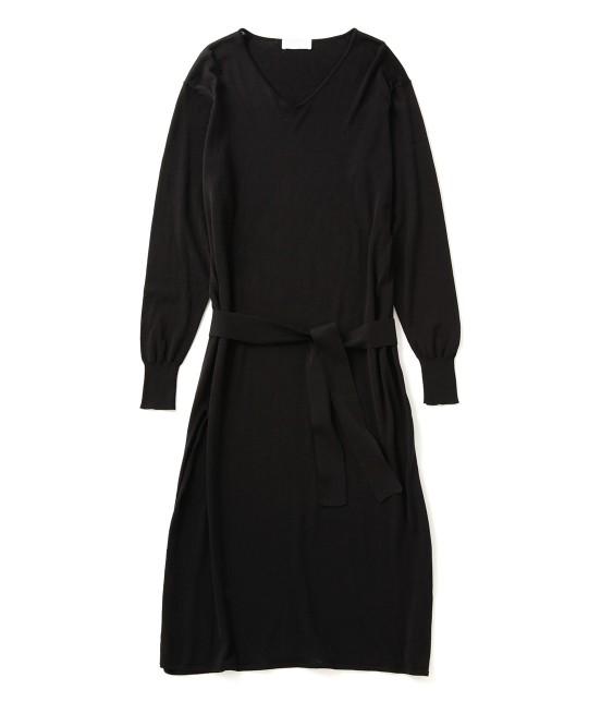 アダム エ ロペ ファム | FEMME&HOMME 【 ilk ADAM ET ROPE'】LONG DRESS | ブラック