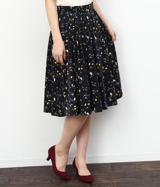 ロペピクニック | 【セットアップ対応】フラワープリントギャザースカート | ネイビー