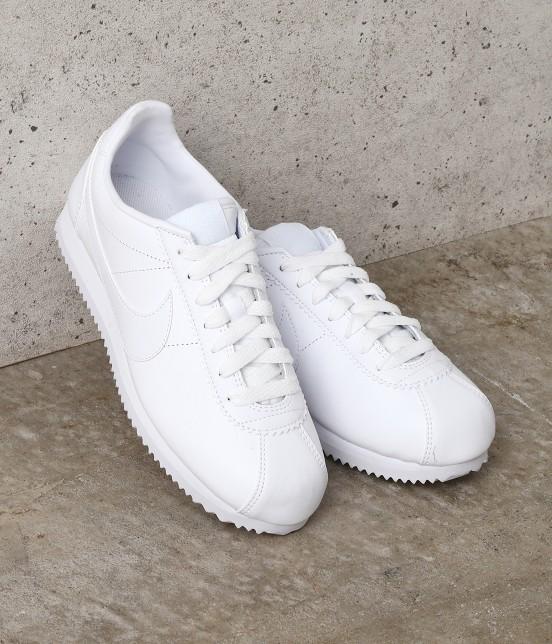 ナージー   【Nike】Classic Cortez Leather   ホワイト系