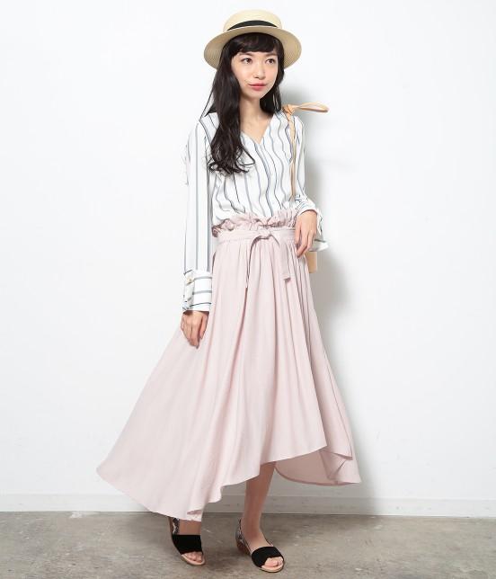 ロペピクニック | 【HIRARI COLLECTION】ヴィンテージサテンスカート - 9