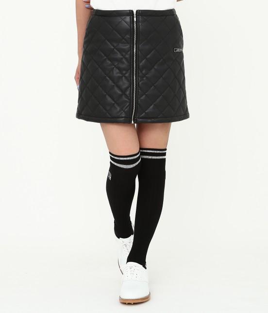 ジュン アンド ロペ   フェアリーレザーチョコレートキルトスカート   ブラック