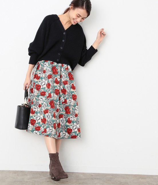ビス | 【sweet11月号掲載】【sweet×ViSコラボ】フラワープリントスカート - 9