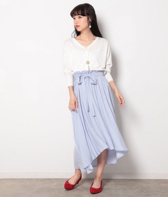 ロペピクニック | 【HIRARI COLLECTION】ヴィンテージサテンスカート - 10
