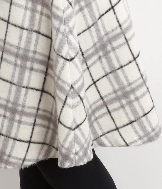 ロペピクニック | 立体シャギーチェックフレアースカート - 5