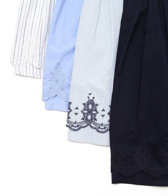 ロペピクニック   【50TH SPECIAL COLLECTION】無地/ストライプ裾刺繍スカート - 8