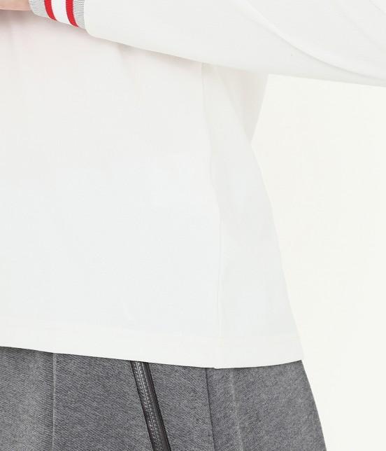 ジュン アンド ロペ   【吸湿速乾性】【UVカット】ラインリブ長袖ポロシャツ - 5