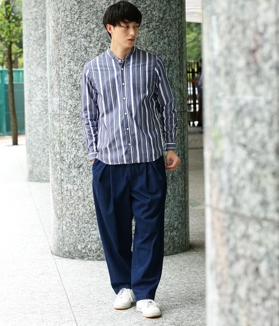 ジュンレッド   【トレンドアイテム】バンドカラーシャツ - 5