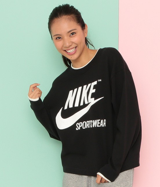 ナージー | 【Nike】 archive crew top | ブラック