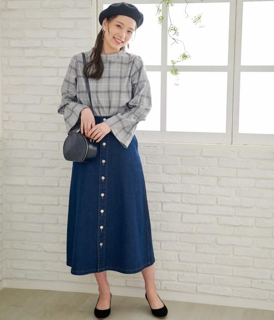 ロペピクニック | 【10%OFF Campaign】【予約】【WEB限定】フロントボタンデニムスカート - 16
