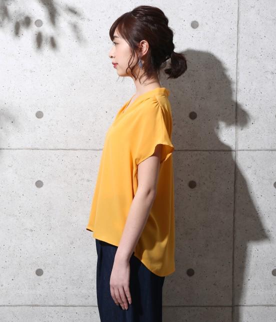 ロペピクニック | 【新色追加】ストレッチツイルタック衿ブラウス - 1