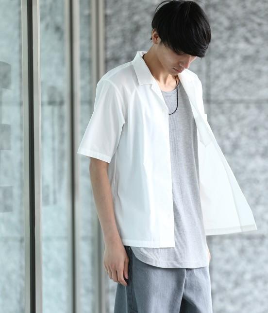 ジュンレッド | ドライコットンオープンカラーシャツ | ホワイト