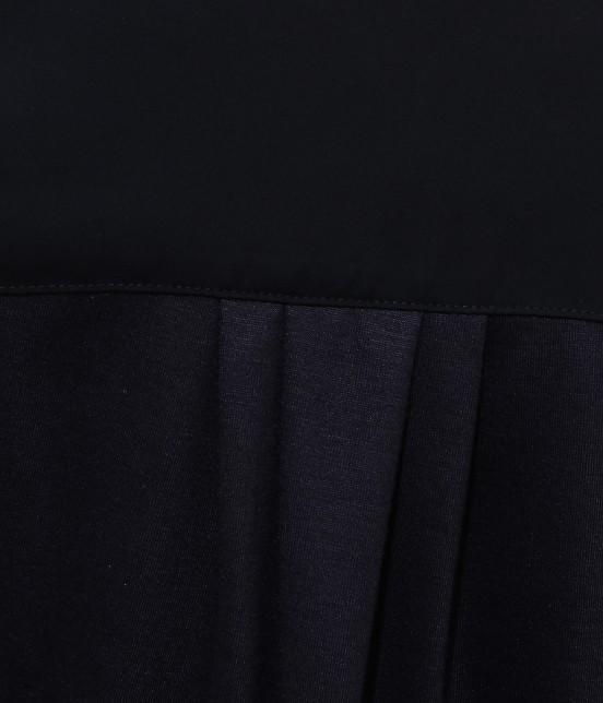 ビス | 【ティラウス(R)】後ろシャーリング異素材スキッパーブラウス - 6