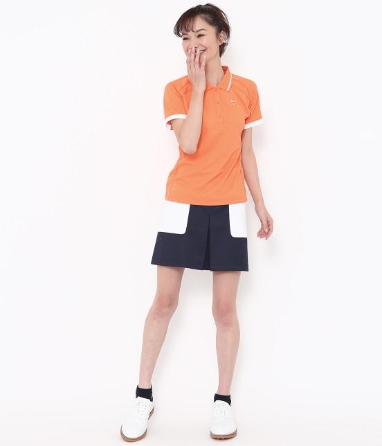 ジュン アンド ロペ | 【透け防止】【吸水速乾】【UVカット】配色ポケットボックスプリーツスカート - 10