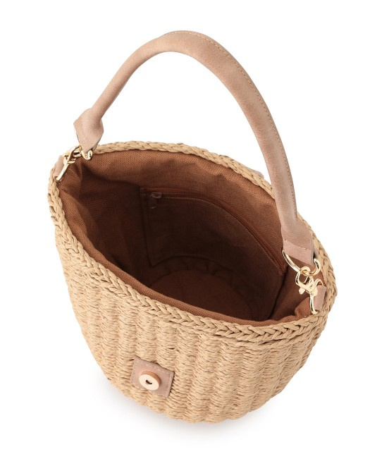 ロペピクニックパサージュ   【先行予約】【2WAY】丸バックルバケツバスケットバッグ - 6