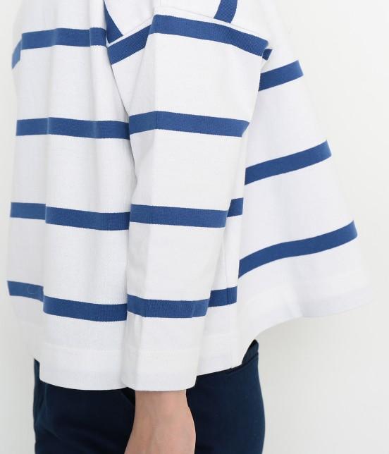 アダム エ ロペ ファム | 【Traditional Weatherwear】 ビッグマリンボートネックシャツ - 9
