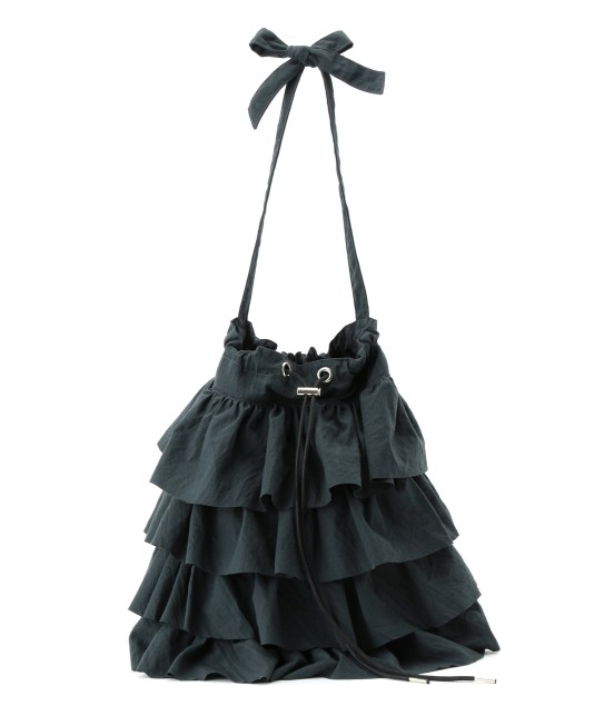 ロペピクニックパサージュ | 【saita10月号掲載】【Casselini】フリルショルダーバッグ | ブラック