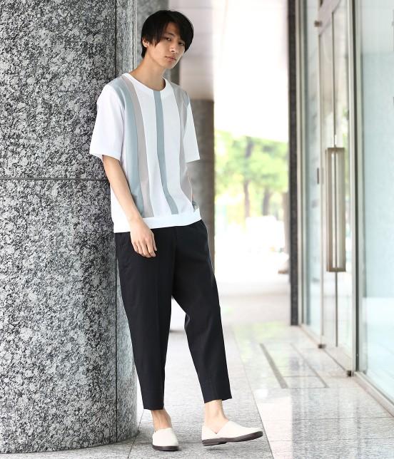 ジュンレッド | 【TIME SALE】パネルストライプ半袖Tシャツ - 7