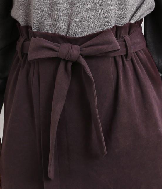 ロペピクニック   【新色追加】【HAPPY PRICE】ベロアタッチアイラインスカート - 3