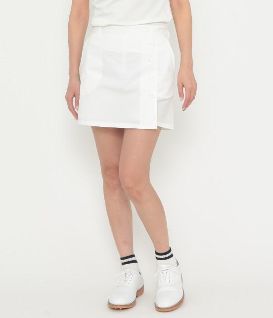 ジュン アンド ロペ | 【吸水速乾】【COOLMAX】クールマックスラップスカート | ホワイト