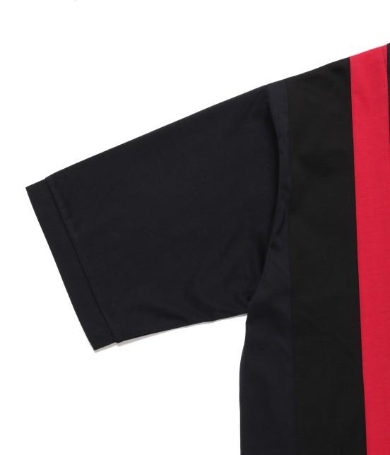 ジュンレッド | 【TIME SALE】パネルストライプ半袖Tシャツ - 14