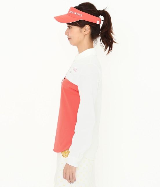 ジュン アンド ロペ | MILLION ICE 配色長袖ポロシャツ - 1