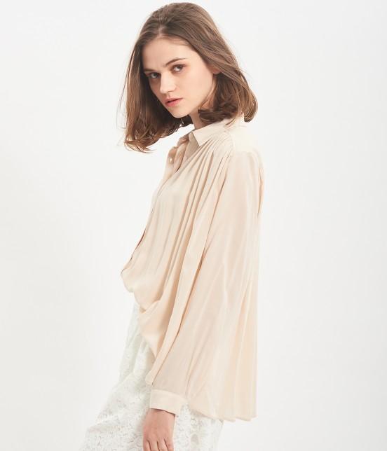 ビス | レーヨンギャザーシャツ - 1