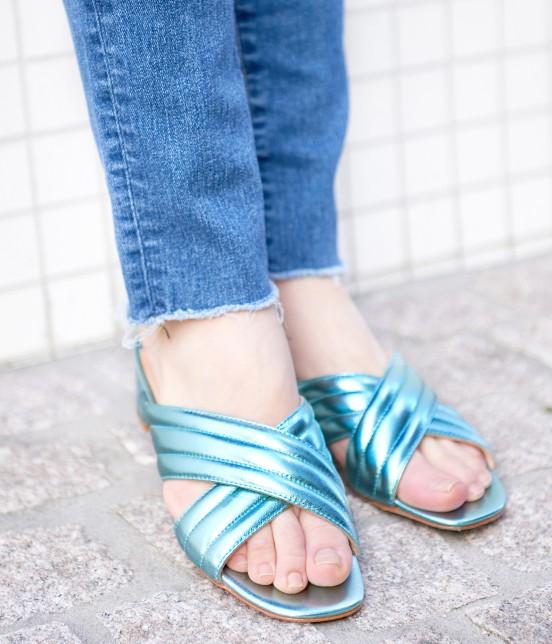 アダム エ ロペ ファム   【FABIO RUSCONI】Metalic Sandals - 7