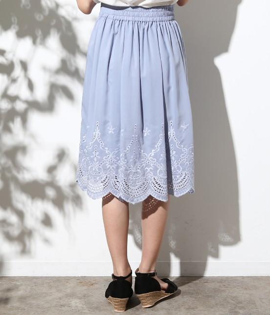 ロペピクニック   スカラップ刺繍スカート - 2