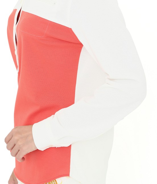 ジュン アンド ロペ | MILLION ICE 配色長袖ポロシャツ - 6