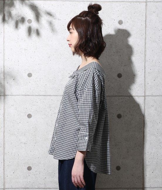 ロペピクニック | 【2WAY】先染め七分袖シャツ - 1
