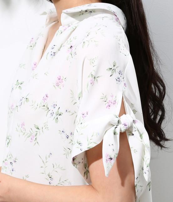 ロペピクニック | 花柄ヒラリボンシャツ - 1