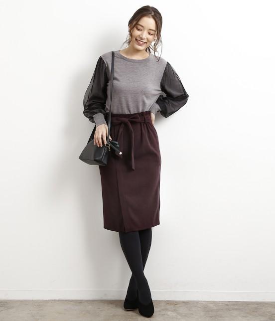 ロペピクニック   【新色追加】【HAPPY PRICE】ベロアタッチアイラインスカート - 7