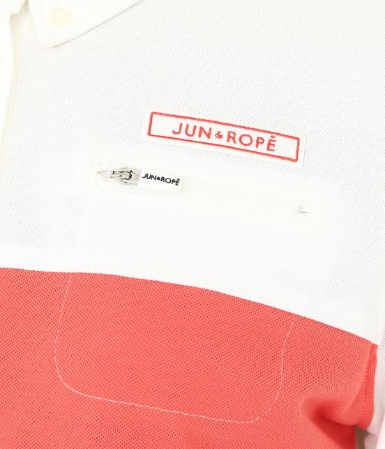ジュン アンド ロペ | MILLION ICE 配色長袖ポロシャツ - 5