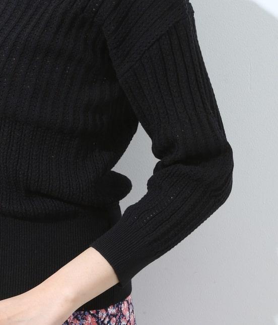 ビス | 【前後2WAY】すかし柄編みカーディガン - 4