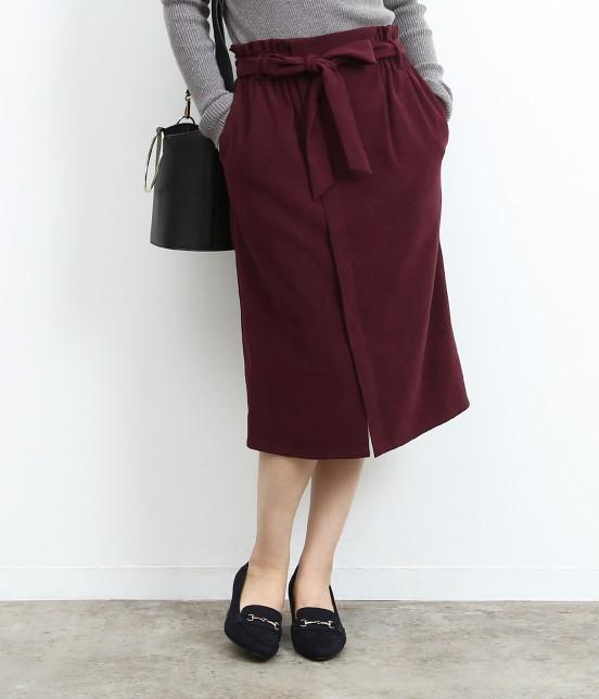 ロペピクニック   【新色追加】【HAPPY PRICE】ベロアタッチアイラインスカート   ワイン