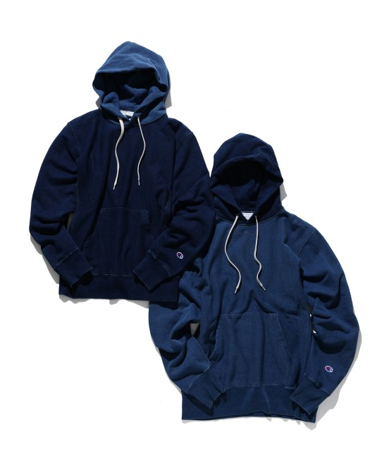 アダム エ ロペ オム | 【Champion for ADAM ET ROPE' 】Exclusive Indigo Hoodie - 7