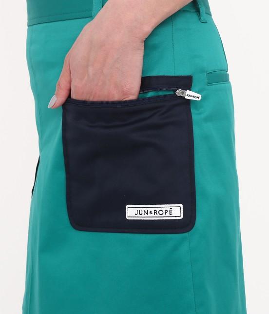 ジュン アンド ロペ | 【透け防止】【吸水速乾】【UVカット】配色ポケットボックスプリーツスカート - 3