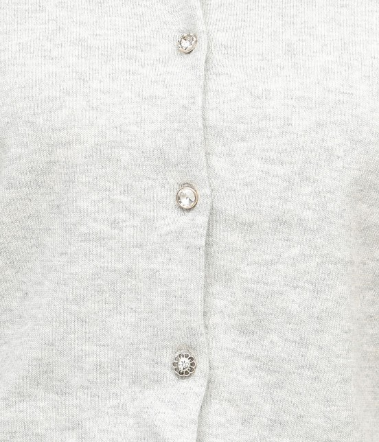 ビス | 【数量限定!LUCKY PRICE】オーガニックコットンクルーネックカーディガン - 6