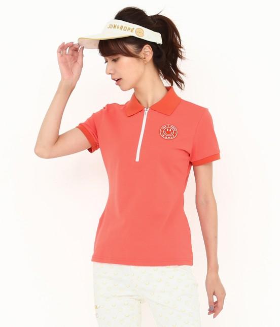 ジュン アンド ロペ | 【UVカット】【吸水速乾】【接触冷感】MILLION ICE Zipポロシャツ | オレンジ