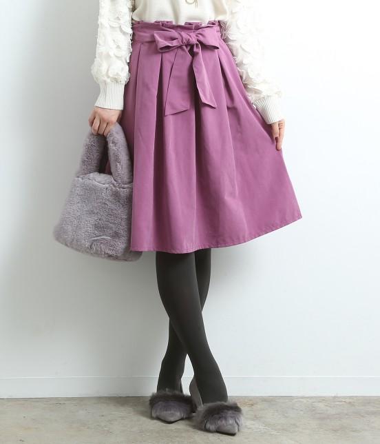 ロペピクニック | 【新色追加】【HAPPY PRICE】リボン付きタックスカート | ピンク