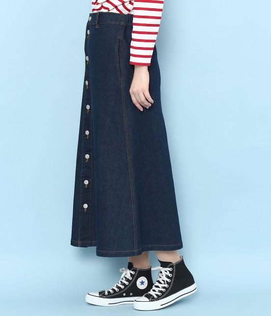 ロペピクニック | 【10%OFF Campaign】【予約】【WEB限定】フロントボタンデニムスカート - 1