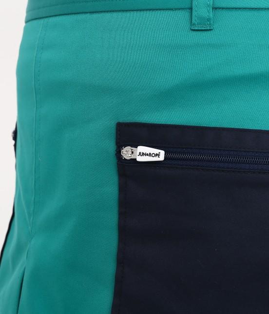 ジュン アンド ロペ | 【透け防止】【吸水速乾】【UVカット】配色ポケットボックスプリーツスカート - 4