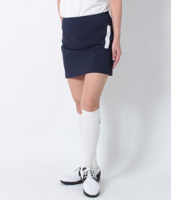 ジュン アンド ロペ | ナイロンストレッチ切替スカート | ネイビー