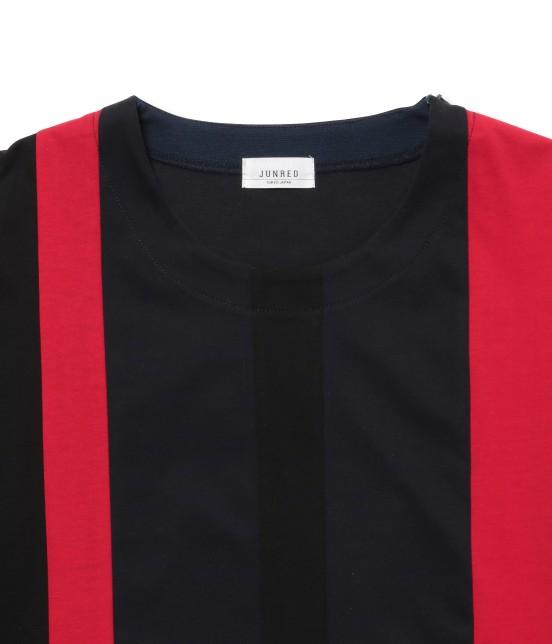 ジュンレッド | 【先行予約】パネルストライプ半袖Tシャツ - 1