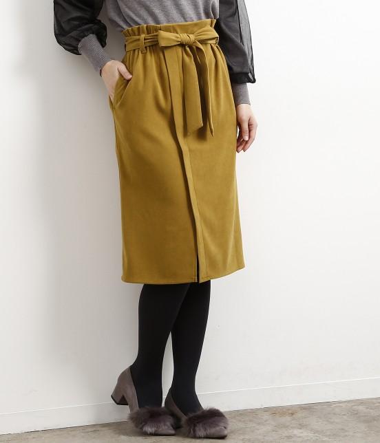 ロペピクニック   【新色追加】【HAPPY PRICE】ベロアタッチアイラインスカート   カラシ