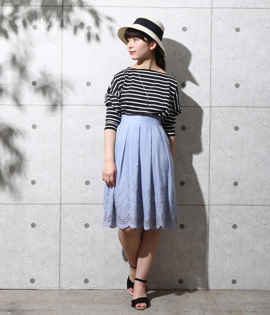 ロペピクニック   スカラップ刺繍スカート - 6