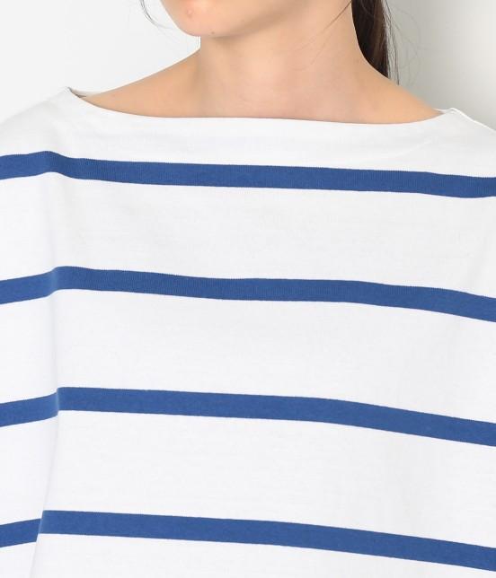 アダム エ ロペ ファム | 【Traditional Weatherwear】 ビッグマリンボートネックシャツ - 6
