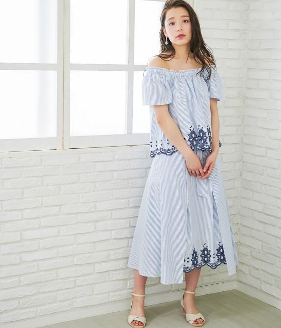 ロペピクニック | 【TIME SALE】【50TH SPECIAL COLLECTION】【2WAY】裾刺繍オフショルダーブラウス - 14