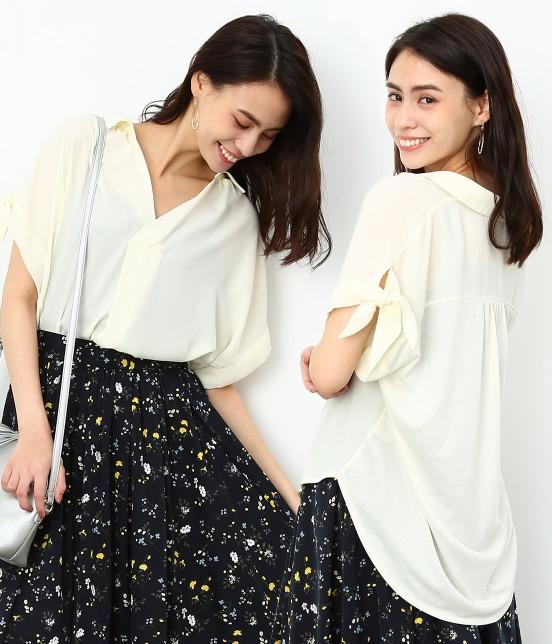 ロペピクニック | 半袖ヒラリボンシャツ | ホワイト